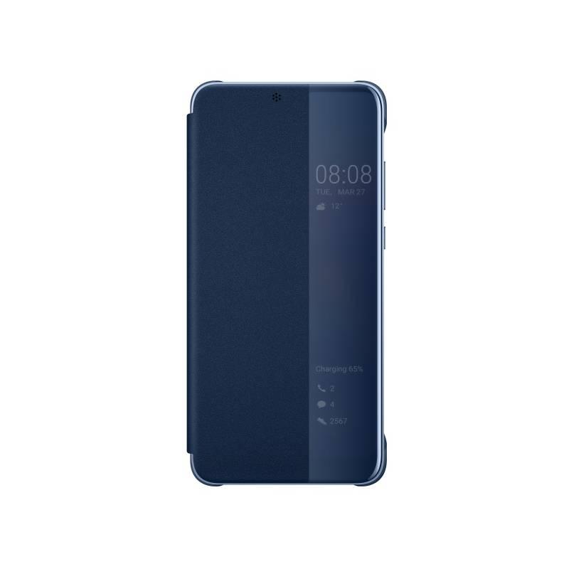 Pouzdro na mobil flipové Huawei Original Smart View pro P20 (51992359) modré
