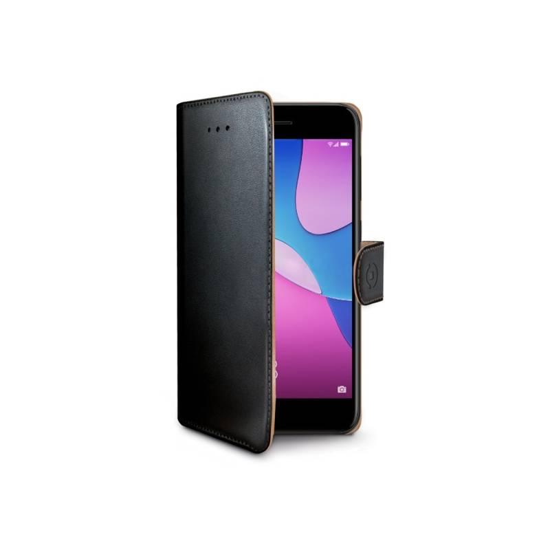 Puzdro na mobil flipové Celly Wally pro Huawei P9 Lite Mini / Y6 Pro (WALLY681) čierne