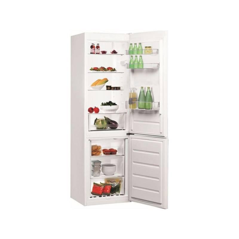 Kombinácia chladničky s mrazničkou Indesit LI8 S1 W biela