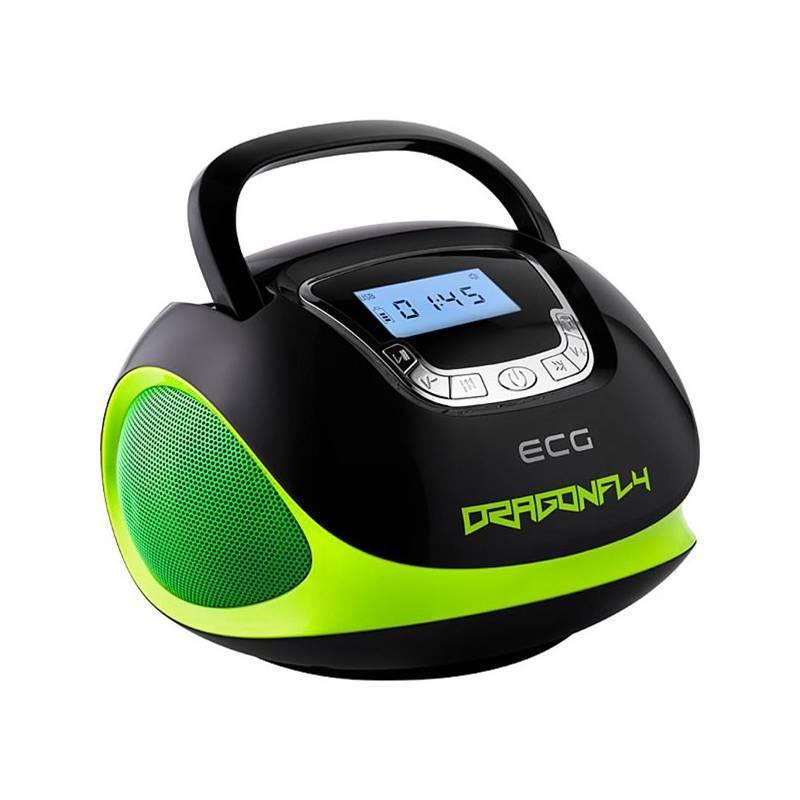 Rádioprijímač ECG R 500 U Dragonfly (423556) čierny/zelený