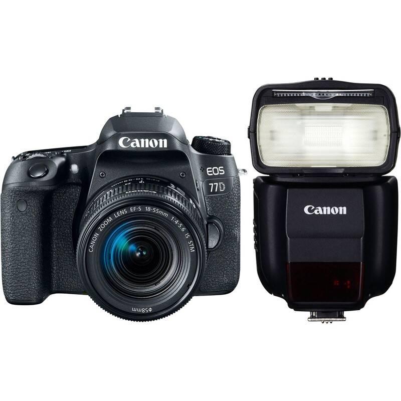 Set výrobkov Canon EOS 77D + 18-55 IS STM + blesk 430EX III-RT + Doprava zadarmo