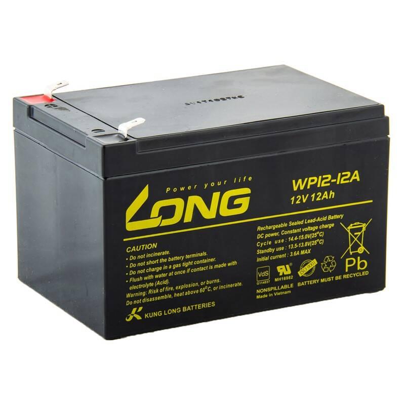 Akumulátor Avacom Long 12V 12Ah F2 (PBLO-12V012-F2A) čierna