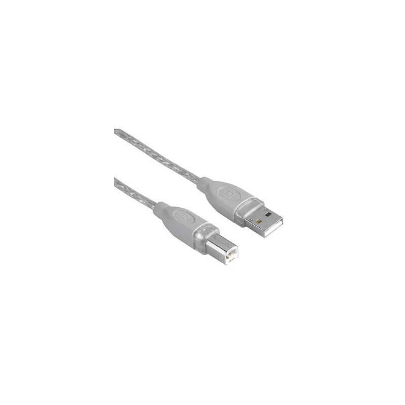 Kábel Hama USB / USB-B, 1,8m (45021) sivý