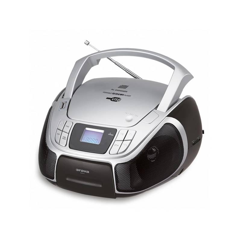 Rádioprijímač s CD Orava SK RCD-811 čierny/sivý