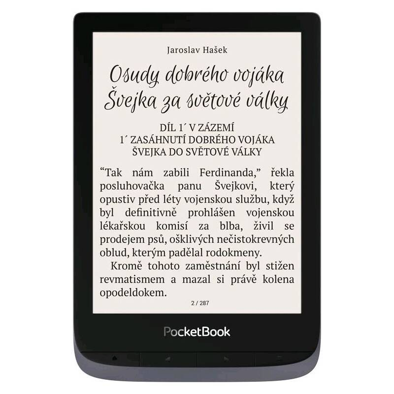 Čtečka e-knih Pocket Book 632 Touch HD - Metallic Grey (PB632-J-WW)