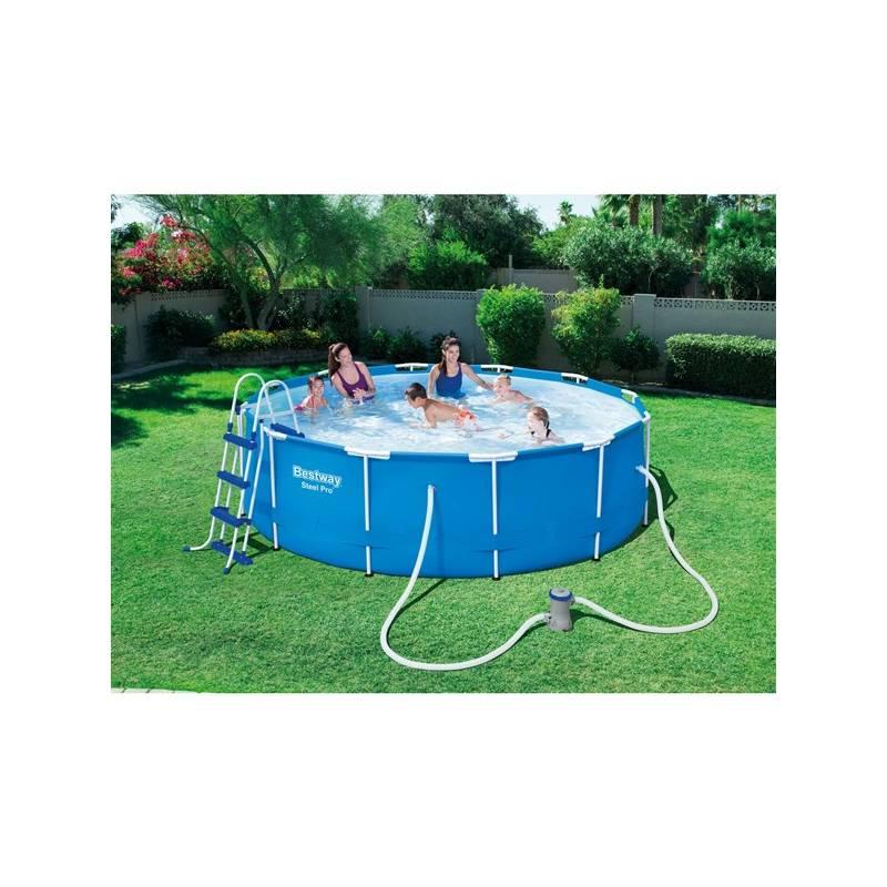 basen bestway steel frame pool 366 x 100 cm z filtracj kartuszow. Black Bedroom Furniture Sets. Home Design Ideas