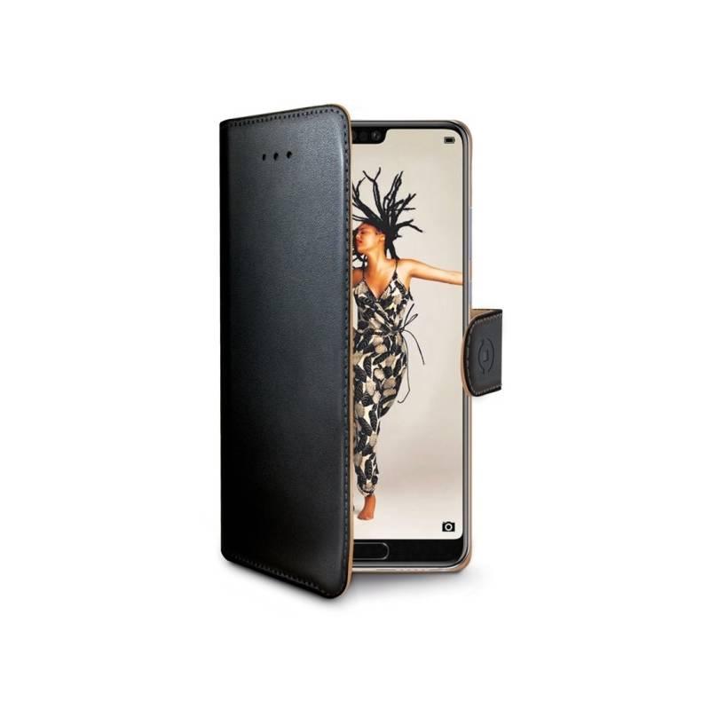 Puzdro na mobil flipové Celly Wally pro Huawei P20 (WALLY748) čierne