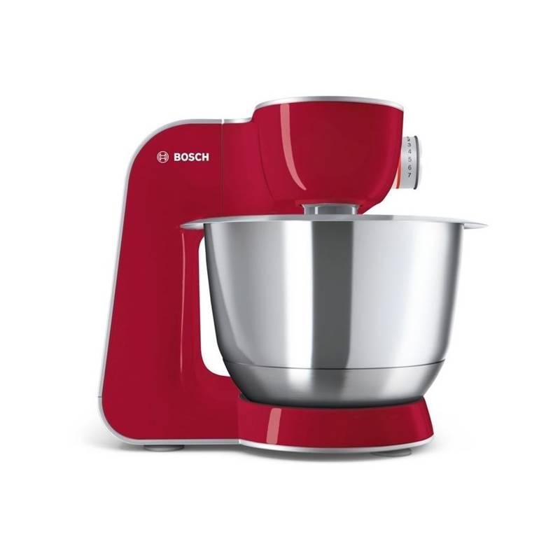 Kuchynský robot Bosch CreationLine MUM58720 strieborný/červený + Doprava zadarmo