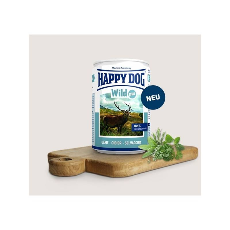 Konzerva HAPPY DOG Wild Pur - 100% maso zvěřiny 400 g