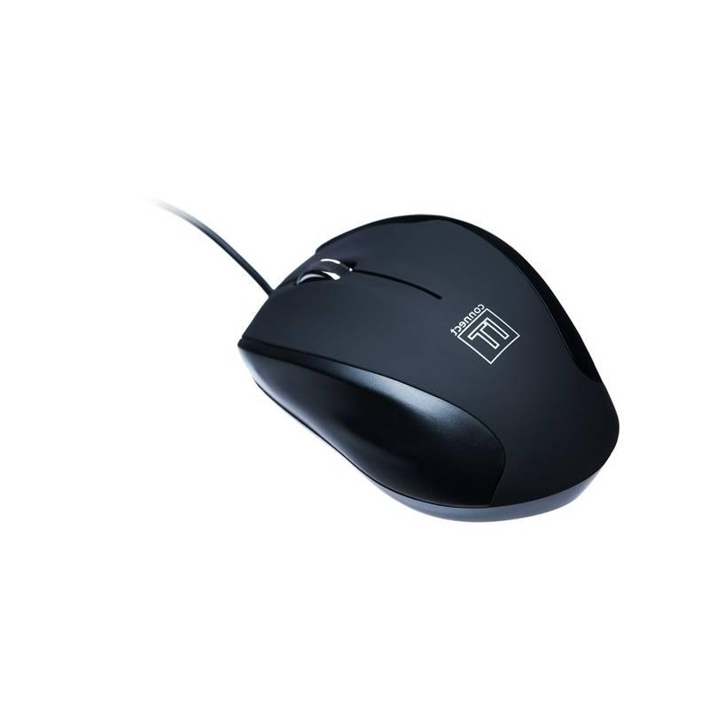 Myš Connect IT CI-77 + podložka (CI-77) čierna