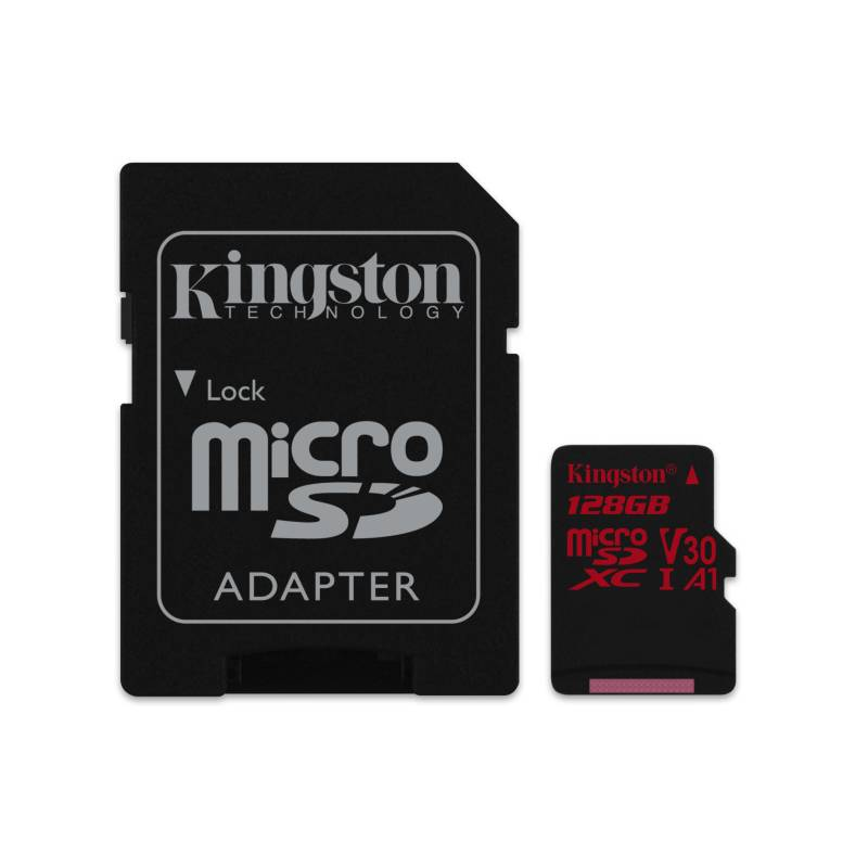 Pamäťová karta Kingston Canvas React microSDXC 128GB UHS-I U3 (100R/80W) + adaptér (SDCR/128GB)