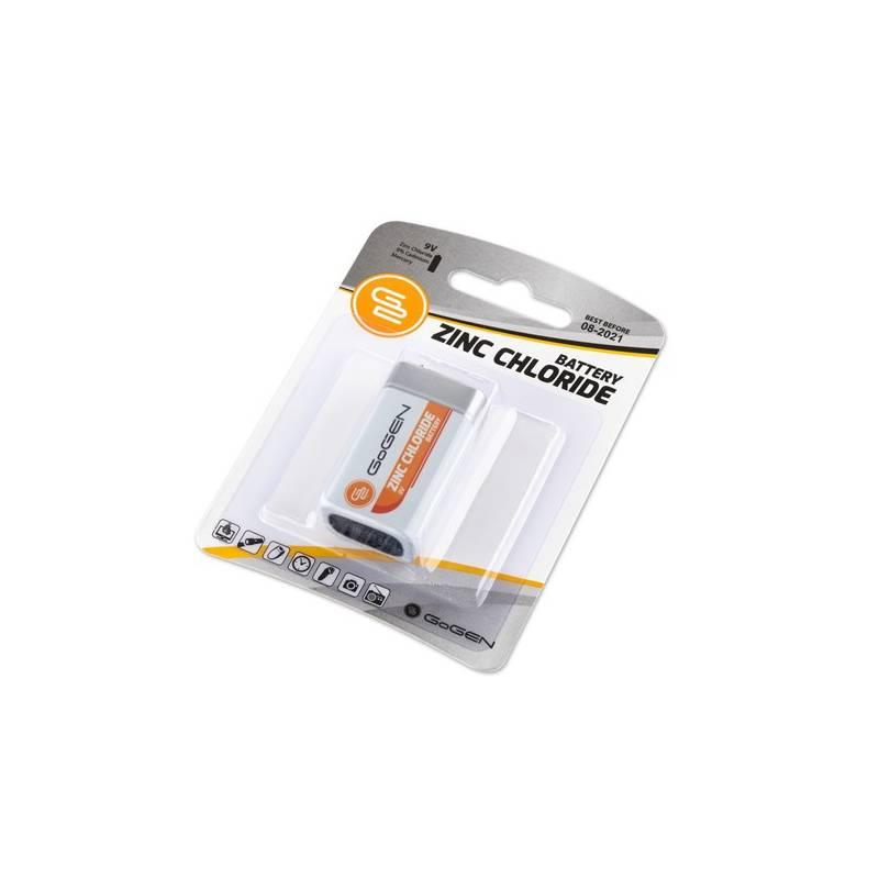 Batéria zinkochloridová GoGEN 9V, 6F22, blister 1ks (9VZINC1)