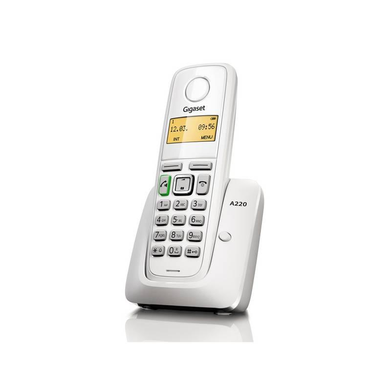 Domáci telefón Siemens Gigaset A220 (S30852-H2411-R602) biely