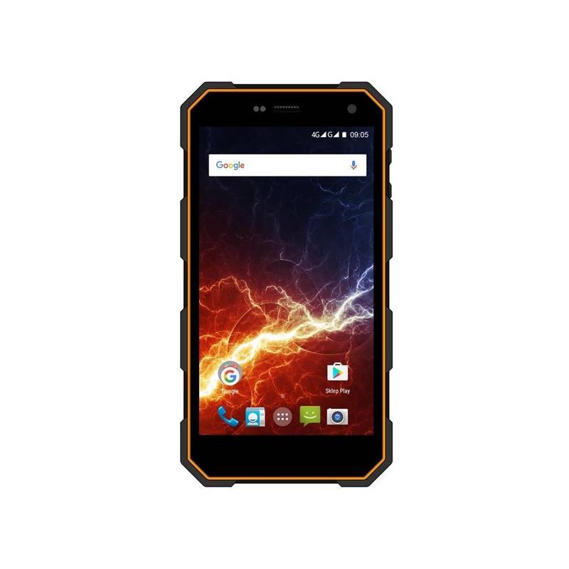 Mobilní telefon myPhone Hammer Energy LTE Dual SIM (TELMYAHAENEROR) černý/oranžový