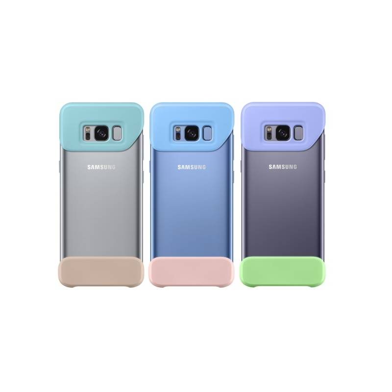 Kryt na mobil Samsung 2 dílný pro Galaxy S8 (3ks) - mint/modrá/violet (EF-MG950KMEGWW) modrý/fialový/tyrkysový