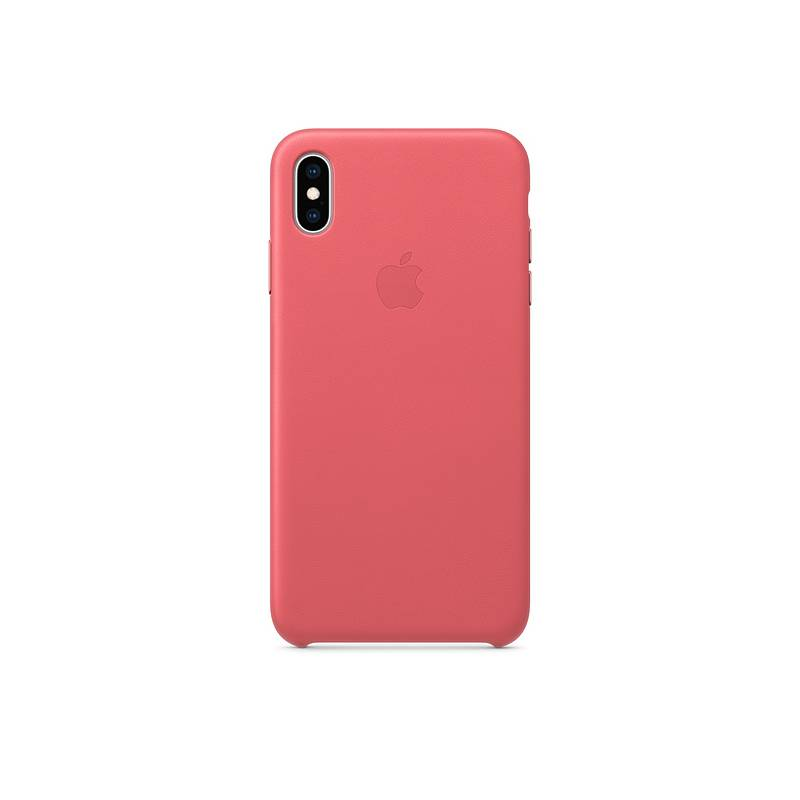Kryt na mobil Apple Leather Case pro iPhone Xs - pivoňkově růžový (MTEU2ZM A 5d5ab72e482