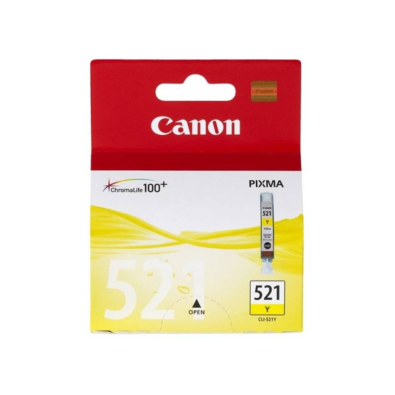Cartridge Canon CLI-521Y, 530 stran - originální (2936B001) žltá