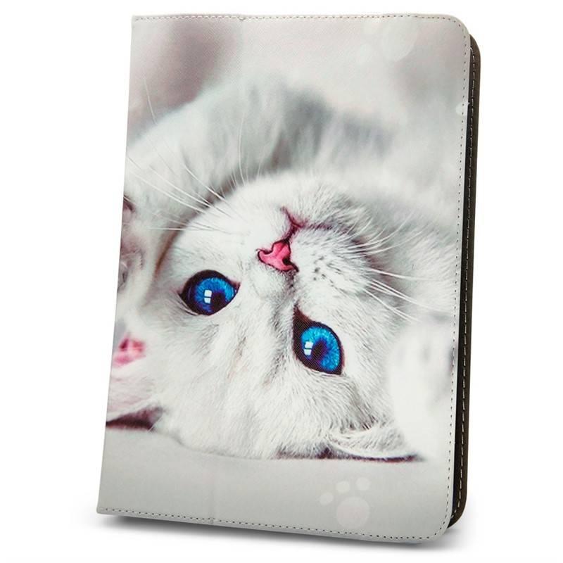 """Púzdro na tablet flipové GreenGo Cute Kitty na tablet 9-10"""" (GSM094417)"""
