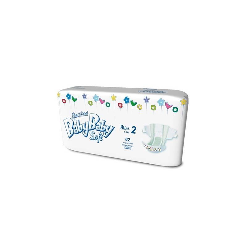 Plienky BabyBaby Soft Standard MINI 62 ks - 3-6kg biela