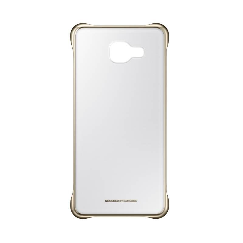 Kryt na mobil Samsung Clear Cover pro Galaxy A5 2016 (EF-QA510CFEGWW) zlatý