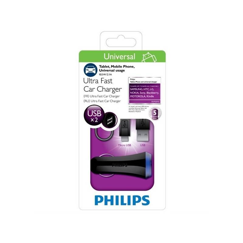 Adaptér do auta Philips DLP2257I čierny