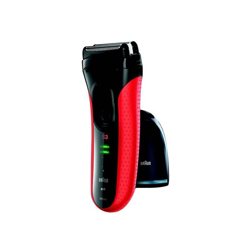 Holiaci strojček Braun Series 3-3050 Clean&Charge čierny/červený