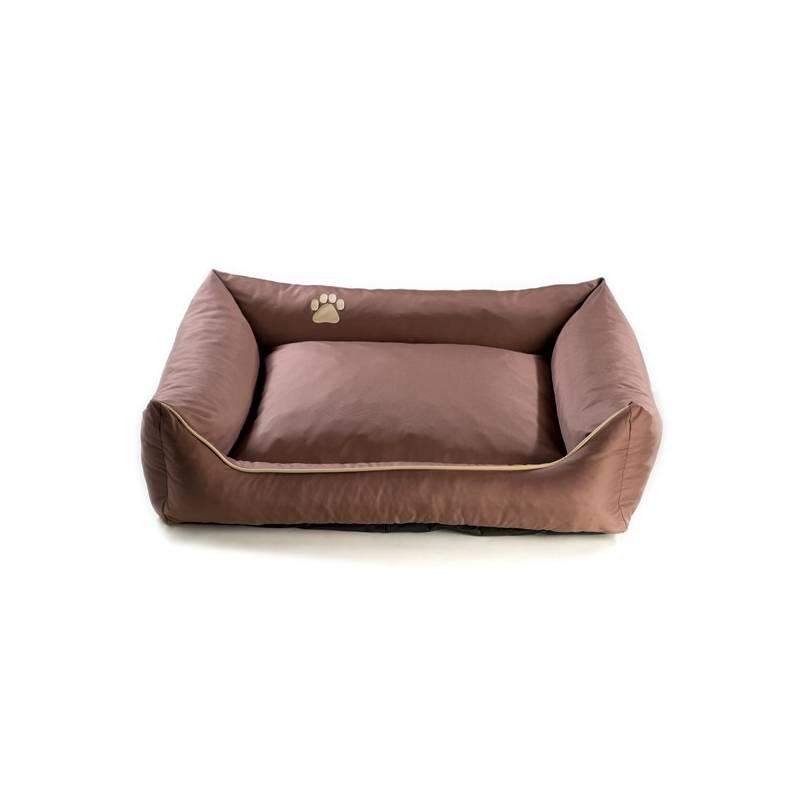 Pelech Argi pro psa obdélníkový - 120x90 cm / snímatelný potah hnedý