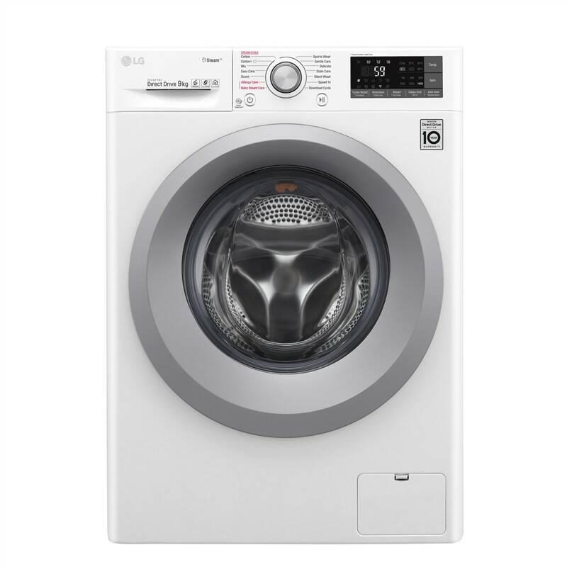 Pračka LG F4TURBO9S stříbrná barva/bílá barva + LG 10 let záruka na Direct Drive motor