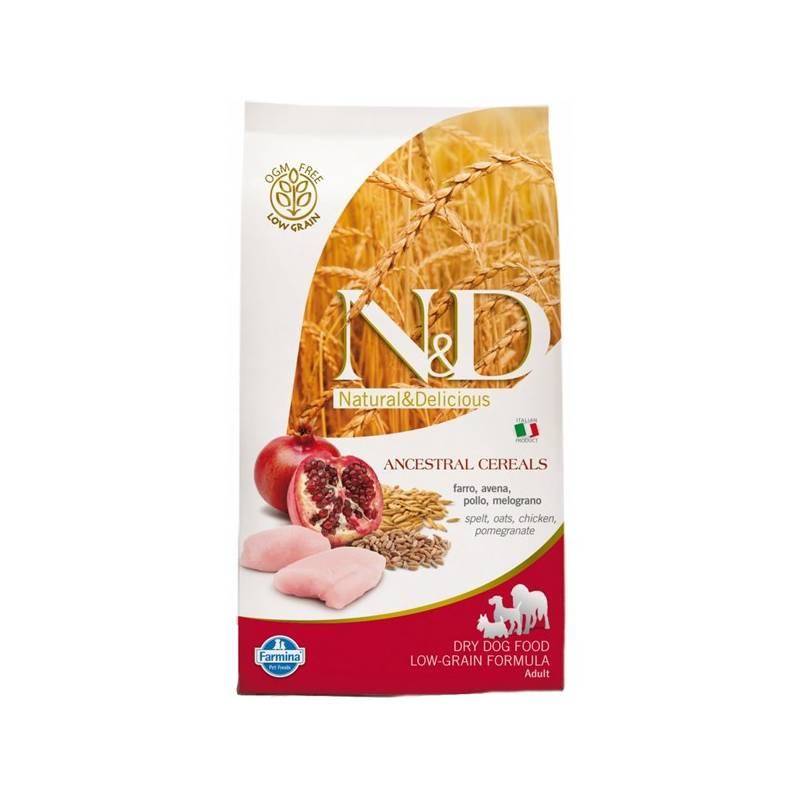 Granuly N&D Low Grain DOG Adult Mini Chicken & Pomegr 7 kg