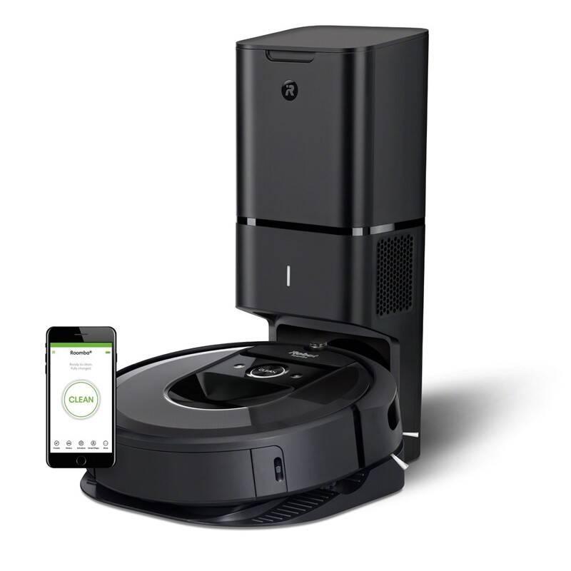 Robotický vysávač iRobot Roomba i7+ čierny + Doprava zadarmo