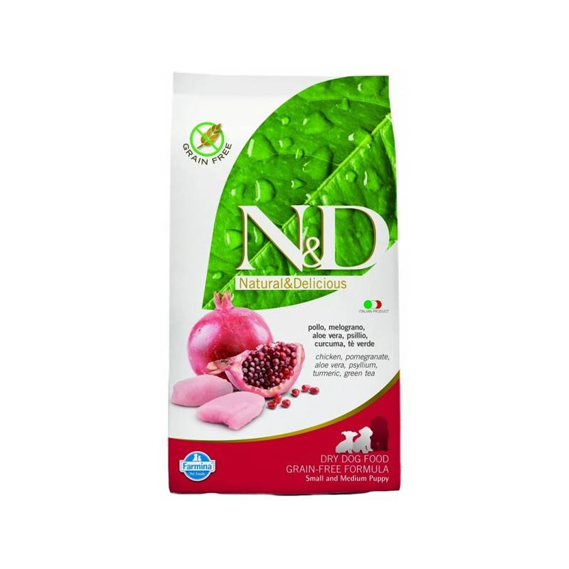 Granule N&D Grain Free DOG Puppy S/M Chicken & Pomegr 12 kg