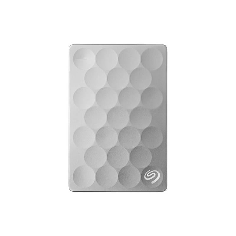 Externý pevný disk Seagate BackUp Plus Ultra Slim 2 TB/USB 3.0/ (STEH2000200) Titanium