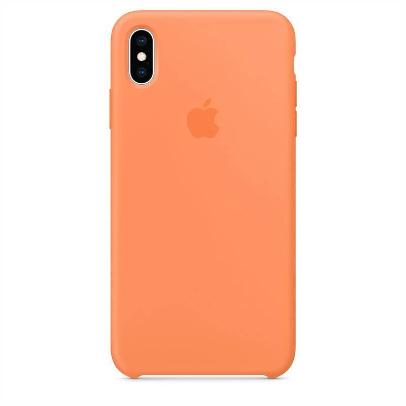 Kryt na mobil Apple Silicone Case pro iPhone Xs Max - papájový (MVF72ZM/A)