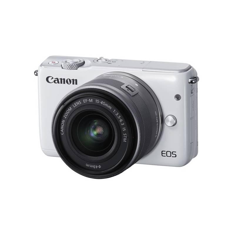 Digitálny fotoaparát Canon EOS M10 + 15-45mm STM biely + Doprava zadarmo