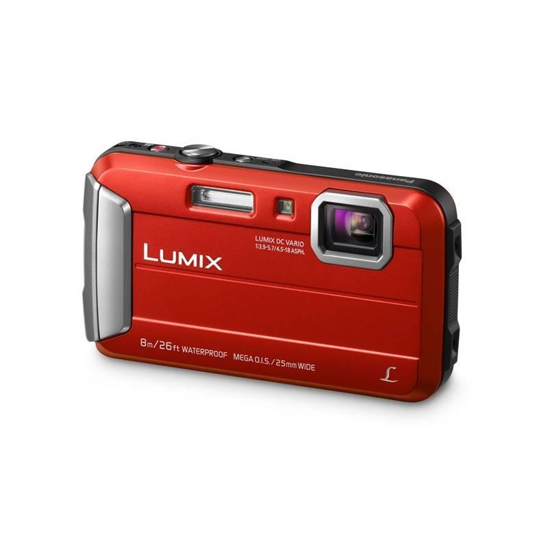 Digitální fotoaparát Panasonic Lumix DMC-FT30EP-R červený