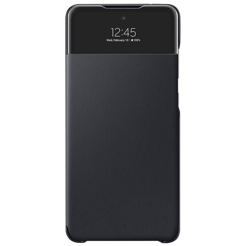 Púzdro na mobil flipové Samsung S View Wallet Cover na Galaxy A72 (EF-EA725PBEGEE) čierne