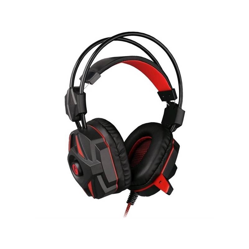 Headset C-Tech Kalypso (GHS-04R) (GHS-04R) čierny/červený
