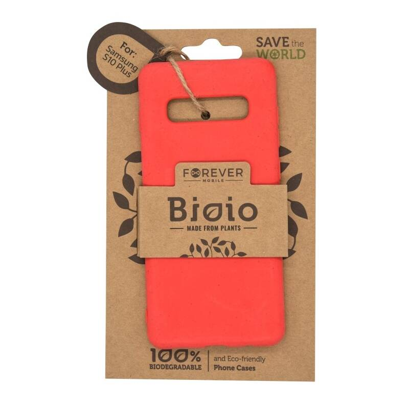 Kryt na mobil Forever Bioio na Samsung Galaxy S10+ (HOUSAS10PLBIORE) červený