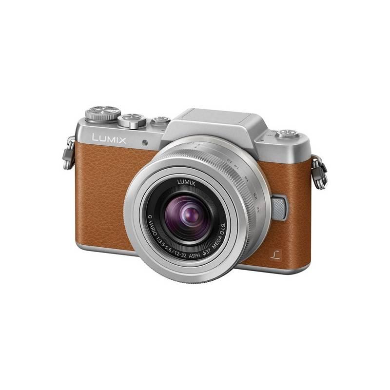 Digitálny fotoaparát Panasonic Lumix DMC-GF7KEG-T + objektiv 12-32 mm strieborný/hnedý + Doprava zadarmo