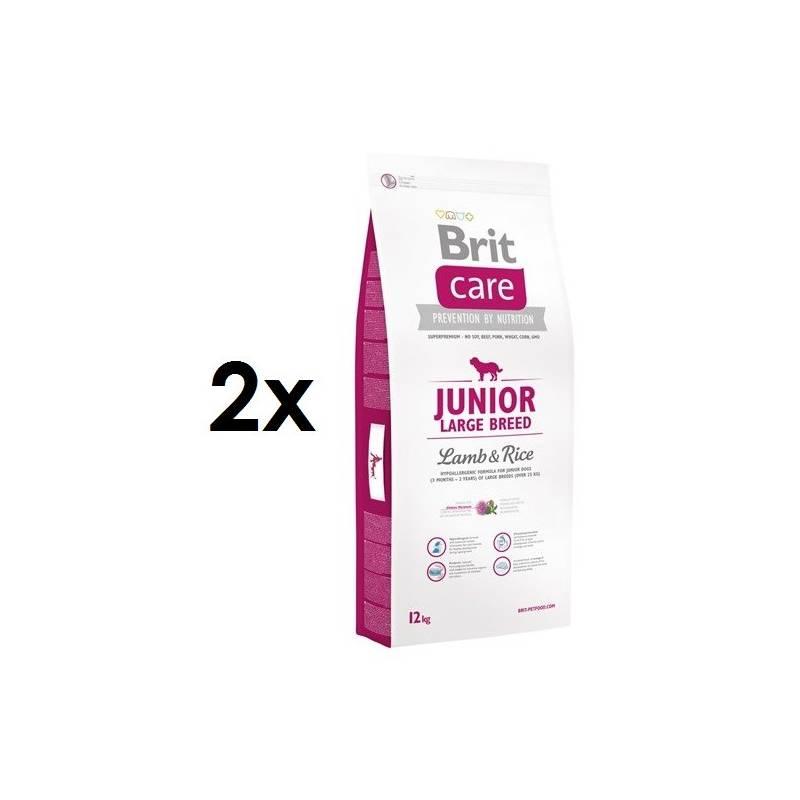 Granule Brit Care Junior Large Breed Lamb & Rice 2 x 12 kg