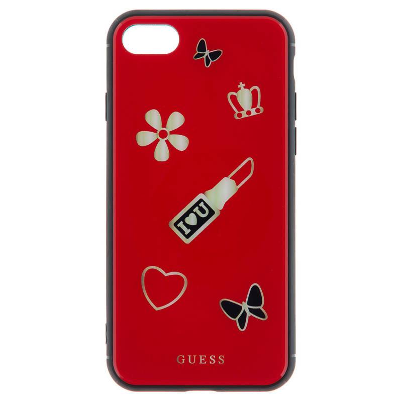 Kryt na mobil Guess Iconic Case pro iPhone 7/8 (GUHCI8ACLSRE) červený