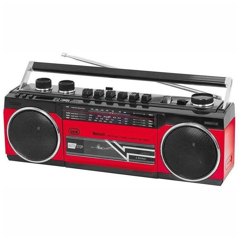 Radiomagnetofon Trevi RR 501 BT červený