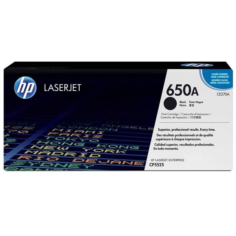 Toner HP 650A, 13500 stran (CE270A) čierny + Doprava zadarmo