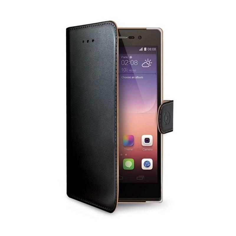 Puzdro na mobil flipové Celly Wally pro Huawei P8 Lite (WALLY507) čierne