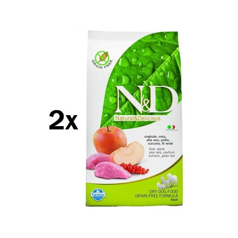 Granule N&D Grain Free DOG Adult Boar & Apple 2 x 12 kg