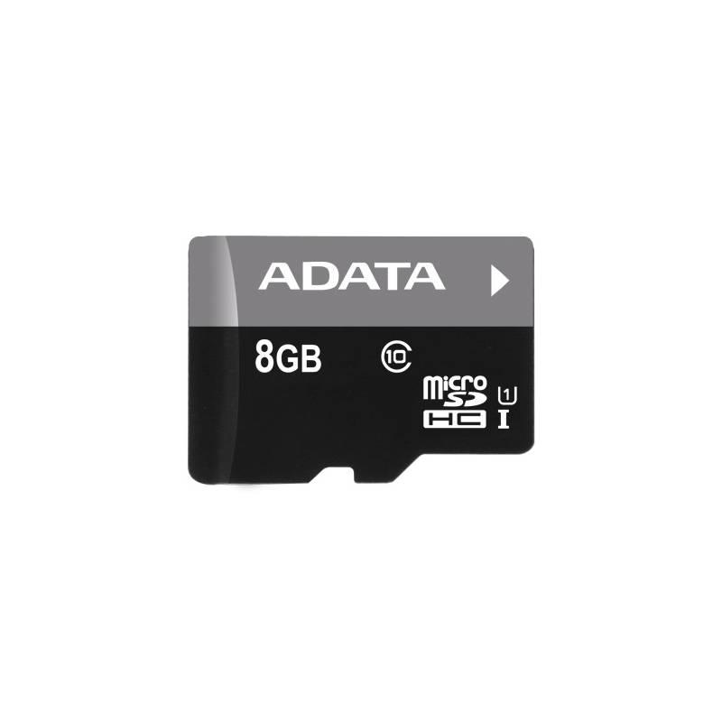 Pamäťová karta ADATA 8GB Class 10 UHS-U1 (50R/10W) + čtečka MicroReader Ver.3 (AUSDH8GUICL10-RM3BKBL) čierna