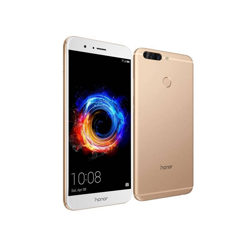 Mobilný telefón Honor 8 Pro (51091NPH) zlatý Pouzdro na mobil flipové Honor 8 Pro View Cover - zlaté (zdarma) + Doprava zadarmo