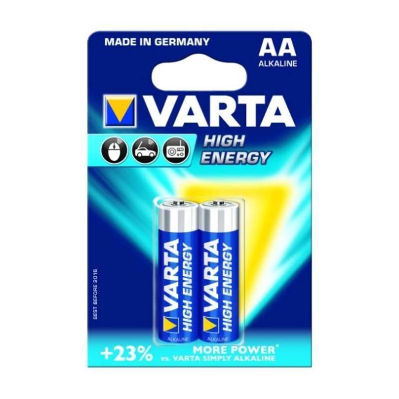 Batéria alkalická Varta High Energy, AA, 2 ks
