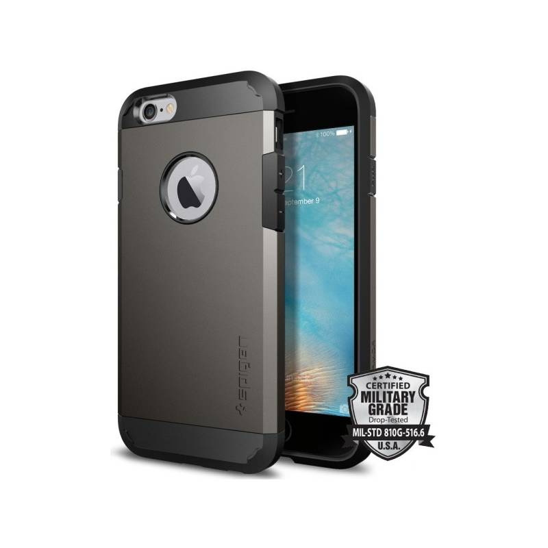 Kryt na mobil Spigen Tough Armor pro Apple iPhone 6/6s - gunmetal (SGP11612) + Doprava zadarmo