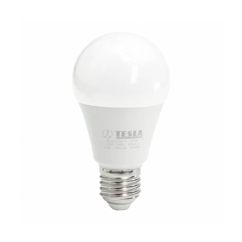 LED žiarovka Tesla klasik, 11W, E27, studená bílá (BL271160-7)